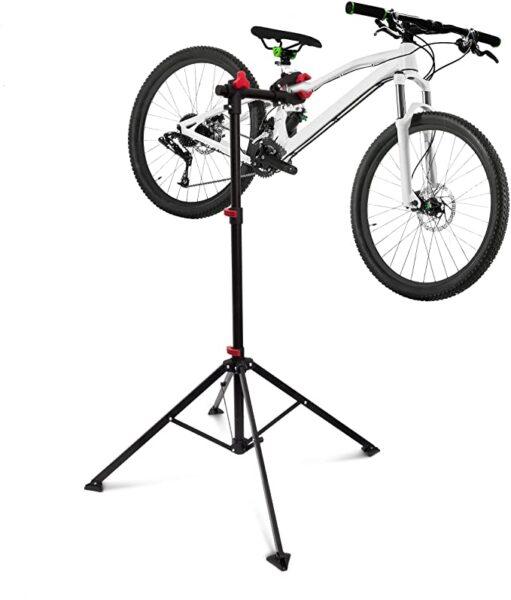 Relaxdays Stand per Riparazione Manutenzione Bicicletta Nero